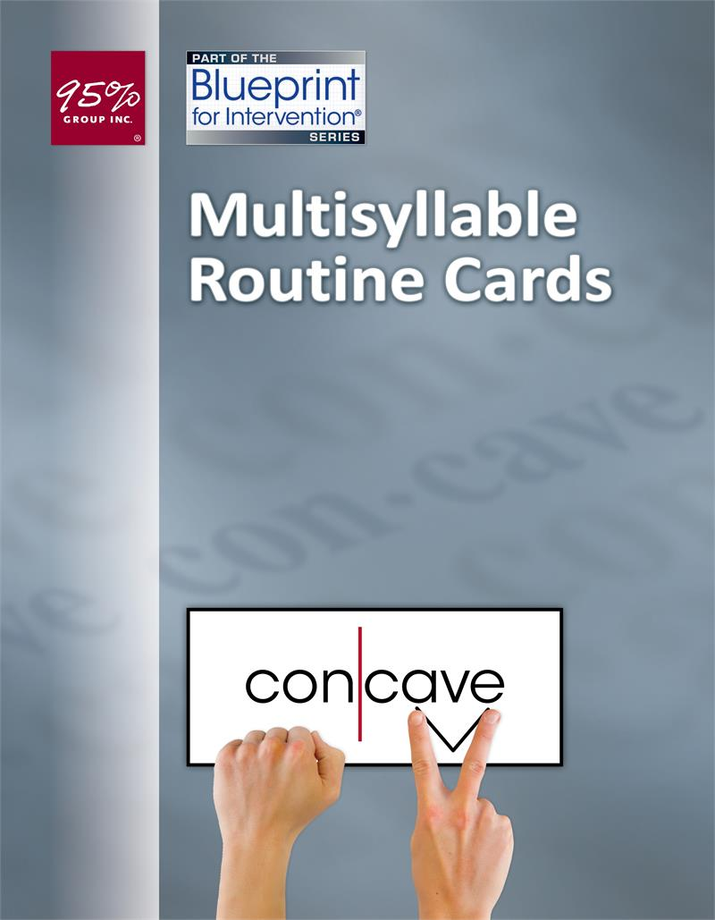 Multisyllable Routine Cards